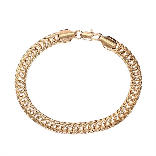 New Men 14K Gold Plated Jewelry Snake Chain Bangle Bracelet Gold Bracelet Bangle
