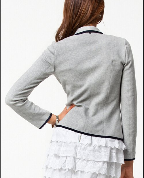 damen herbst d nne kurz design umlegekragen blazer mantel jacken 2 farben. Black Bedroom Furniture Sets. Home Design Ideas