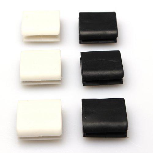 New 6pcs Plastic Cable Fixer Wire Clip Cord Cable Clip ...