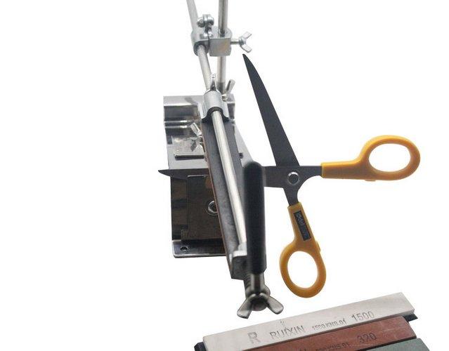 Professional Kitchen Sharpening Scissor Knife Blade Sharpener System+4Stones NEW | eBay